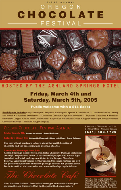 2005 Oregon Chocolate Festival Poster