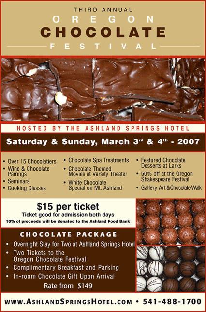 2007 Oregon Chocolate Festival Poster