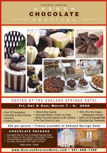 2008 Oregon Chocolate Festival Poster