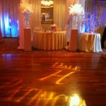 Signature dance floor and draping
