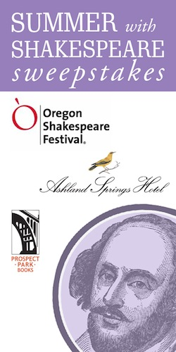 Great opportunity to WIN a fantastic summer 3-night stay, dinner at LARKS and 4 tickets to OSF!