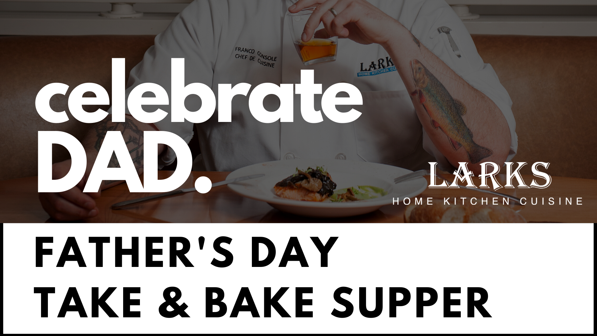 Father's Day Take & Bake supper 2020 header image