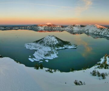 Crater Lake in the Winter