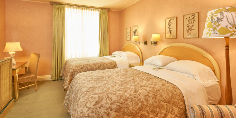 Lovely traditional European boutique style room features two Double beds, comfortable armchair, and a work desk. Rooms are located on our third and fourth floors.View Room