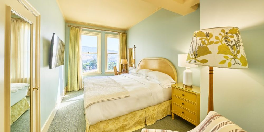 Relax in this traditional European boutique style room featuring one King bed. Eclectic décor comprised of custom painted furniture and muted fabrics combined with 19th century pressed and framed French herbs emphasize the hotel's overall naturalist theme.View Room