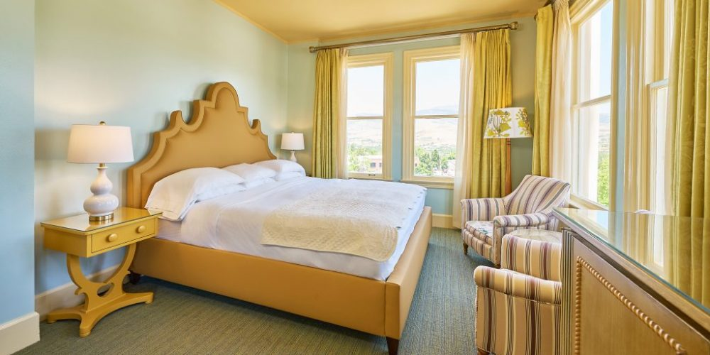 Beautifully appointed deluxe guest room with one King bed, two reading armchairs, and a work desk. Just slightly smaller than our Premium Corner View Kingroom.View Room